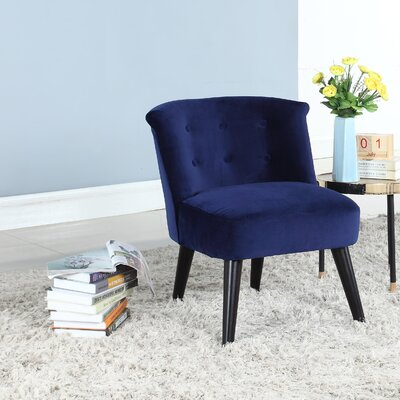 Crosier Plush Barrel Chair Upholstery: Navy