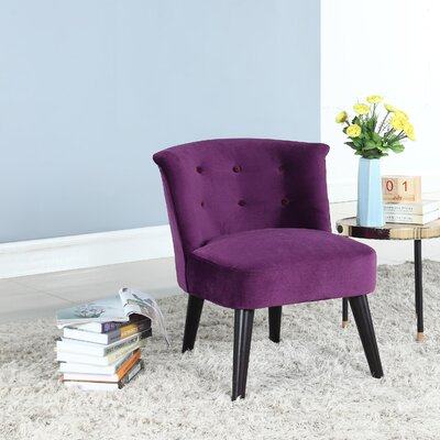 Crosier Plush Barrel Chair Upholstery: Purple