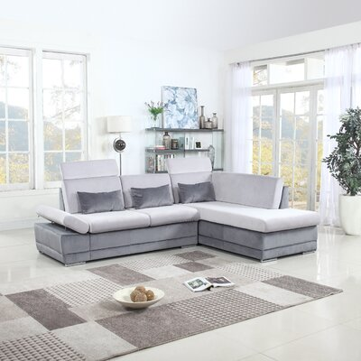 Marty Sectional Upholstery: Light Gray