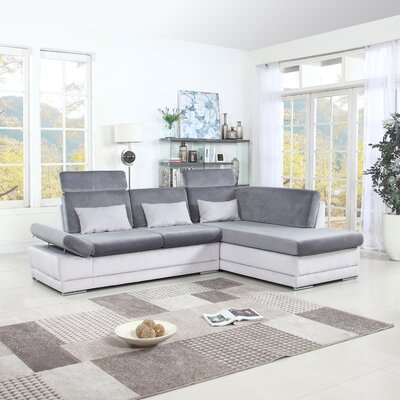 Marty Sectional Upholstery: Dark Gray