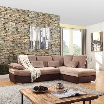 Duanesburg Sectional Upholstery: Brown/Hazelnut
