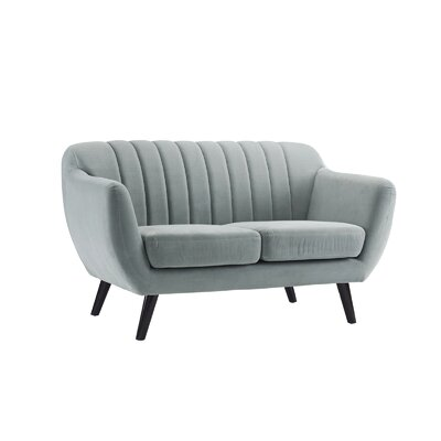 Shaftsbury Standard Loveseat Upholstery: Light Gray