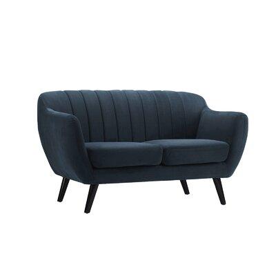 Shaftsbury Standard Loveseat Upholstery: Navy