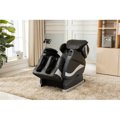 Zero Gravity Massage Chair with Footrest Upholstery: Black