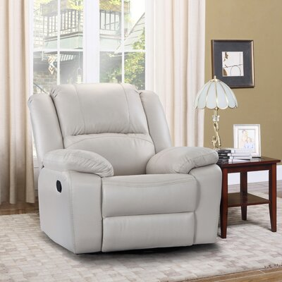 Henry Manual Swivel Rocker Recliner Upholstery Color: Ivory