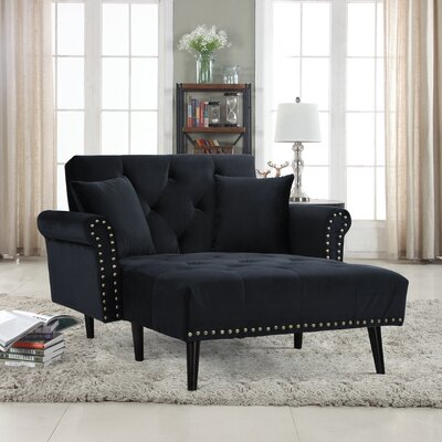 Tilstone Chaise Lounge Upholstery: Black