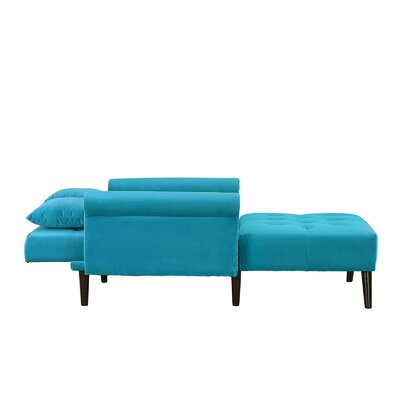 Tilstone Sleeper Chaise Lounge Upholstery: Blue