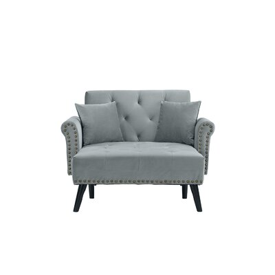 Tilstone Chaise Lounge Upholstery: Light Gray