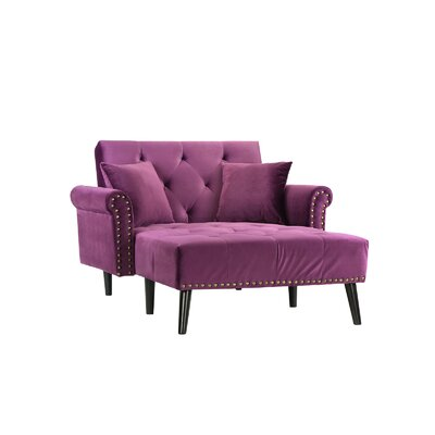 Tilstone Sleeper Chaise Lounge Upholstery: Purple