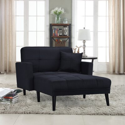 Walthall Chaise Lounge Upholstery: Black