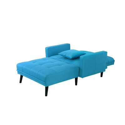 Walthall Sleeper Chaise Lounge Upholstery: Sky Blue