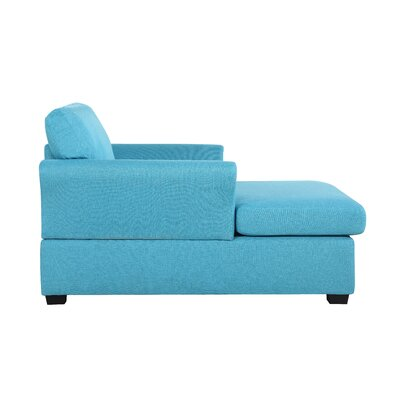 Champaign Chaise Lounge Upholstery: Blue