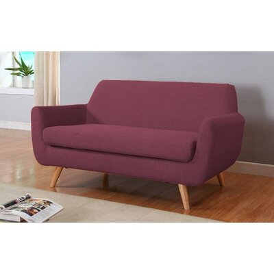 Mid-Century Loveseat Upholstery: Purple