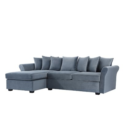 Sanders Sectional Upholstery: Light Gray