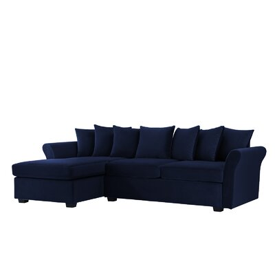 Sanders Sectional Upholstery: Navy