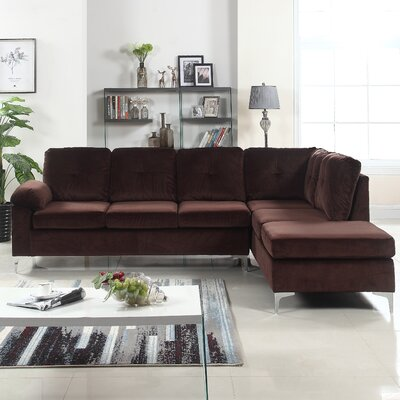 Sanders Sectional Upholstery: Brown