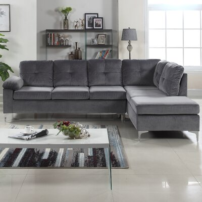 Sanders Sectional Upholstery: Dark Gray