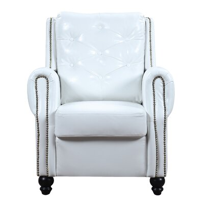Sanders Club Chair Upholstery: White