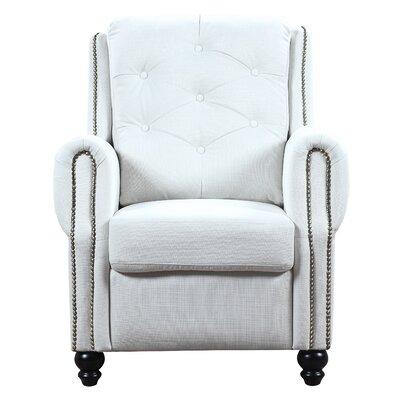 Hollain Armchair Upholstery: Ivory