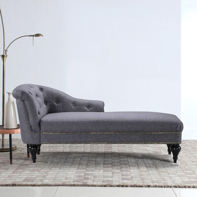 Hollain Chaise Lounge Upholstery: Light Gray