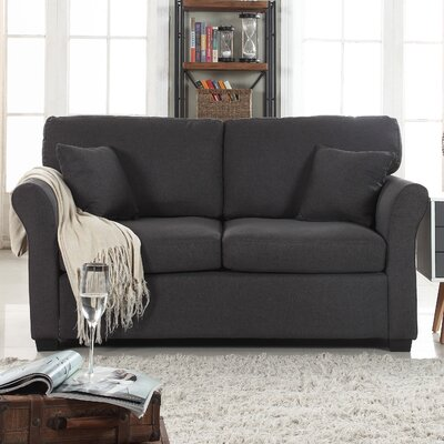 Horvath Classic Linen Loveseat Upholstery: Dark Gray