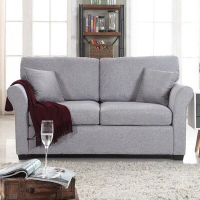 Horvath Classic Linen Loveseat Color: Light Gray