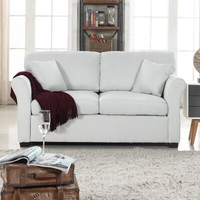 Horvath Classic Linen Loveseat Upholstery: Beige