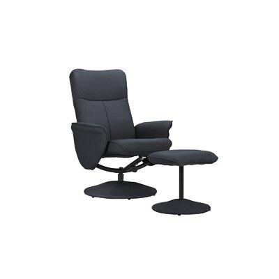 Warrington Living Room Swivel Armchair and Ottoman Upholstery: Dark Gray
