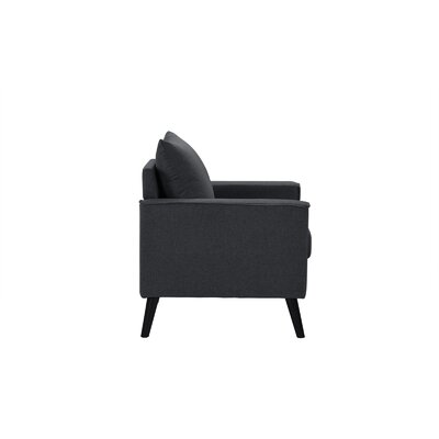 Port Pirie Linen Armchair Upholstery: Dark Gray
