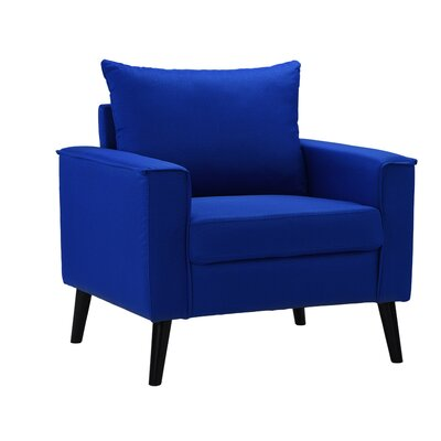 Port Pirie Linen Armchair Upholstery: Navy Blue