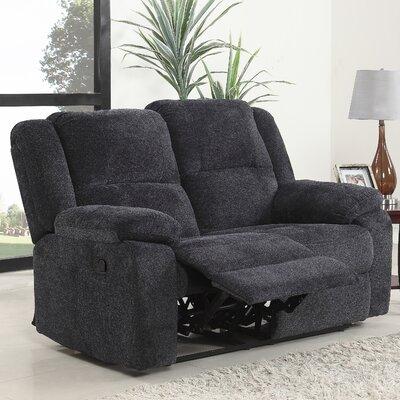 Haddam Classic Reclining Loveseat Upholstery: Dark Gray
