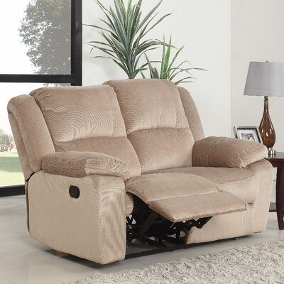 Haddam Classic Reclining Loveseat Upholstery: Light Brown