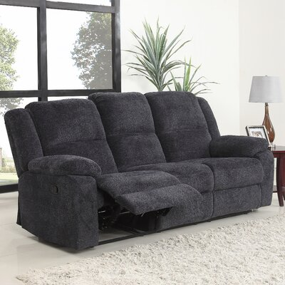 Harpersfield Classic Reclining Sofa Upholstery: Dark Gray