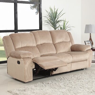 Harpersfield Classic Reclining Sofa Upholstery: Light Brown