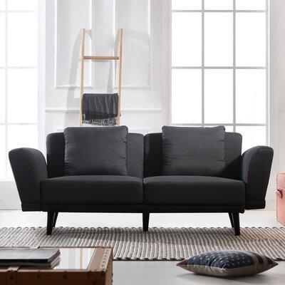 Eide Mid Century 2 Seater Sofa Upholstery: Dark Gray