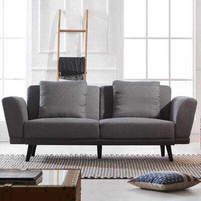Eide Mid Century 2 Seater Sofa Upholstery: Light Gray
