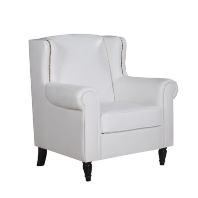 Riverwoods Classic Wingback Chair Upholstery: White
