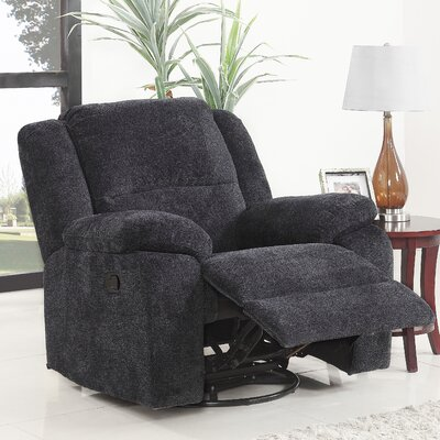 Luci Manual Swivel Rocker Recliner Upholstery: Dark Gray