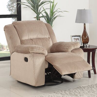 Luci Manual Swivel Rocker Recliner Upholstery: Beige
