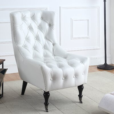 Ridenour Classic Wingback Chair Upholstery: White