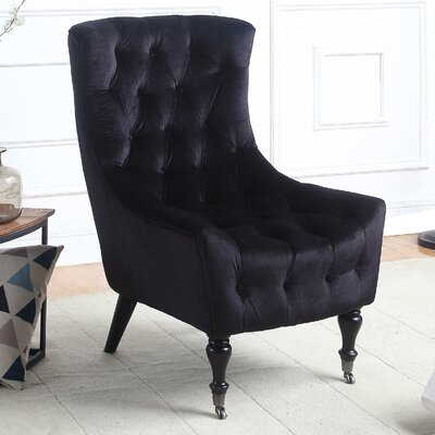 Riehle Classic Wingback Chair Upholstery: Black