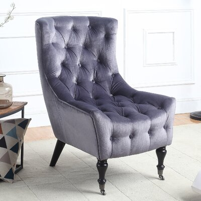 Riehle Classic Wingback Chair Upholstery: Gray