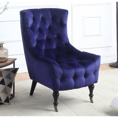Riehle Classic Wingback Chair Upholstery: Navy