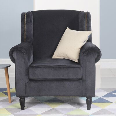Riffe Classic Armchair Upholstery: Black