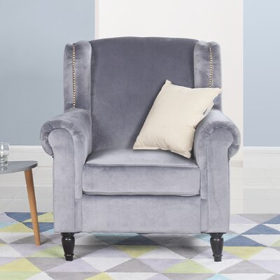 Riffe Classic Armchair Upholstery: Gray