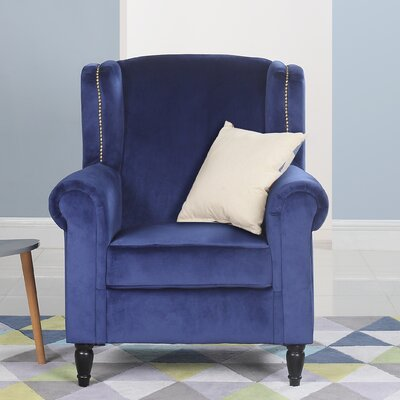 Riffe Classic Armchair Upholstery: Navy