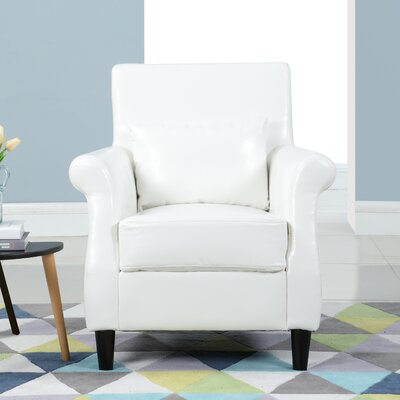 Ringwood Classic Club Chair Upholstery: White