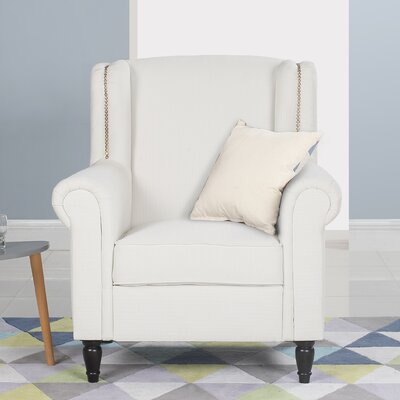 Riverside Classic Wingback Chair Upholstery: Beige