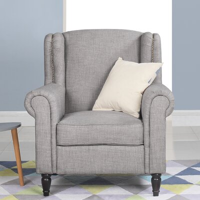 Riverside Classic Wingback Chair Upholstery: Light Gray