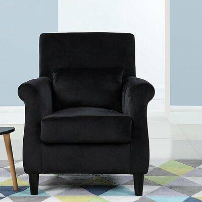Robbins Classic Armchair Upholstery: Black